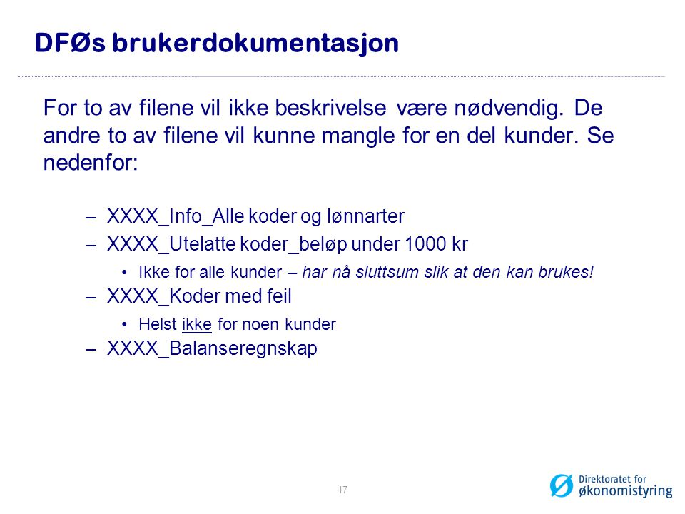DFØs brukerdokumentasjon