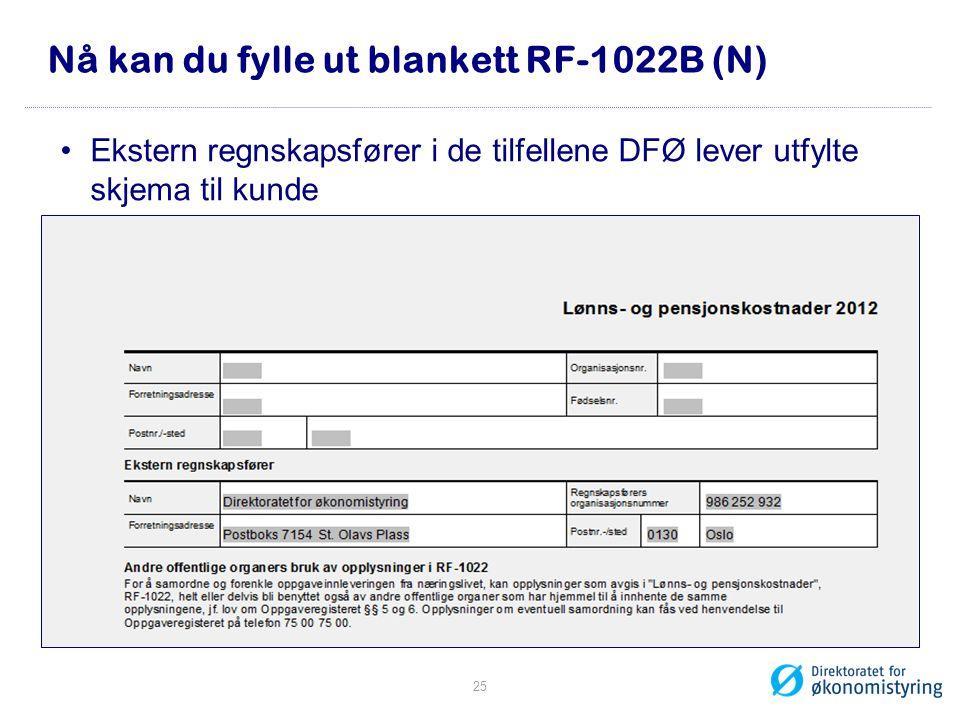 Nå kan du fylle ut blankett RF-1022B (N)