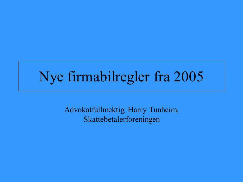 Nye firmabilregler fra 2005