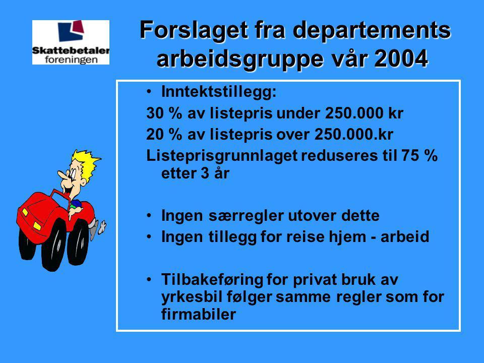 Forslaget fra departements arbeidsgruppe vår 2004