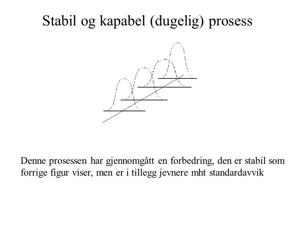Stabil og kapabel (dugelig) prosess