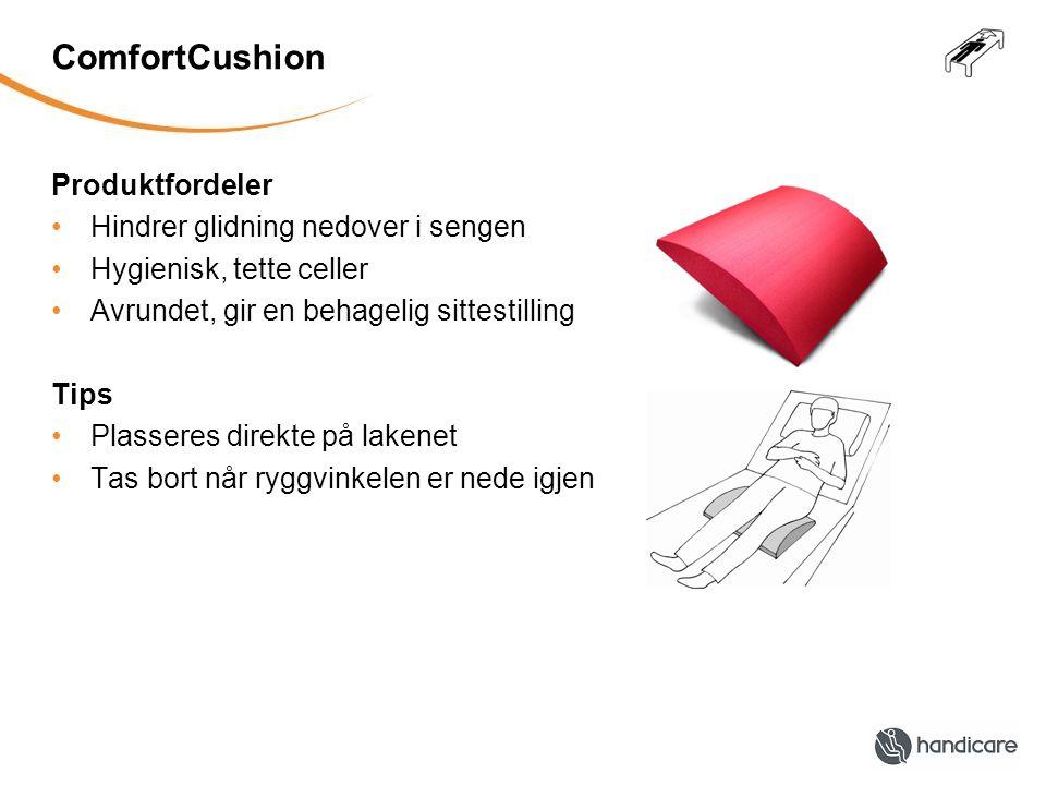 ComfortCushion Produktfordeler Hindrer glidning nedover i sengen