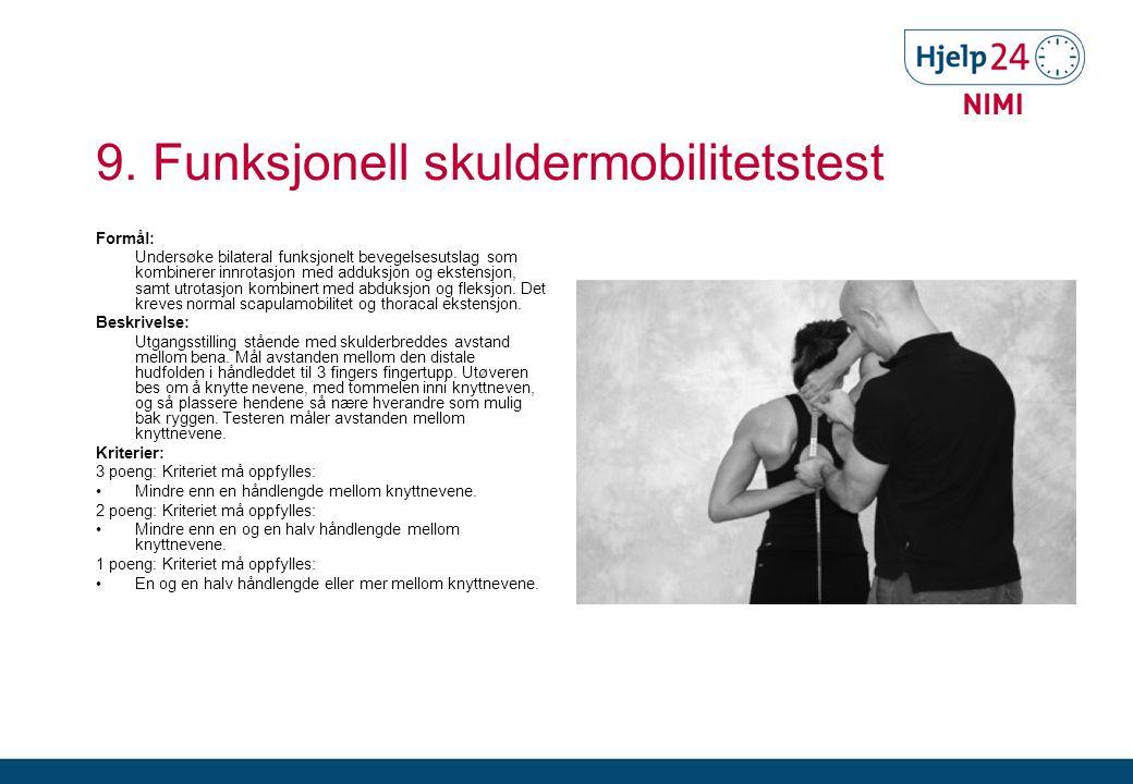 9. Funksjonell skuldermobilitetstest