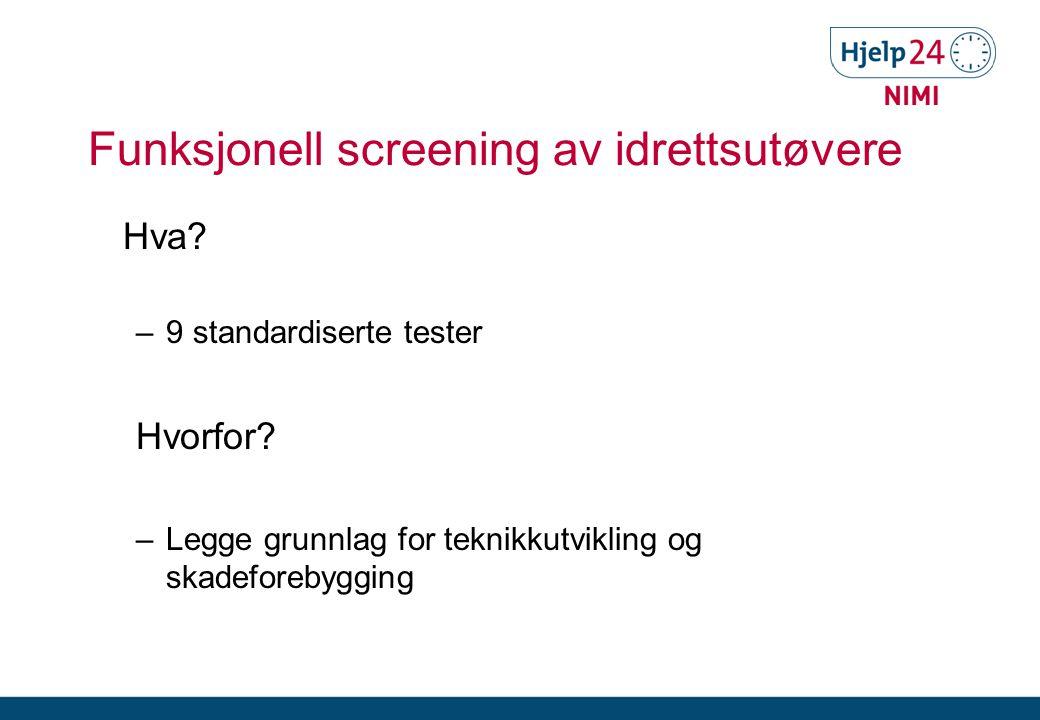 Funksjonell screening av idrettsutøvere