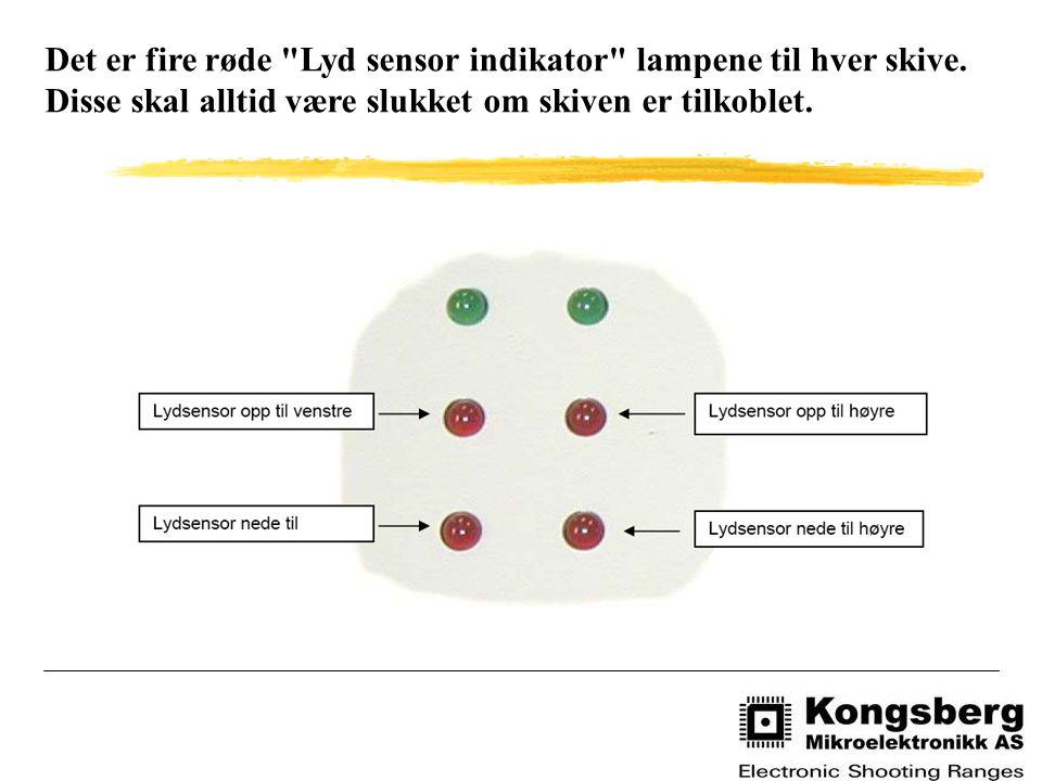 Det er fire røde Lyd sensor indikator lampene til hver skive