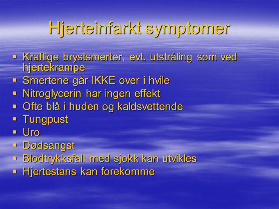 Hjerteinfarkt symptomer
