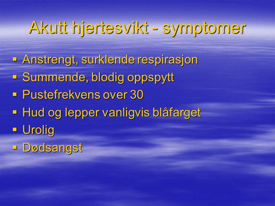 Akutt hjertesvikt - symptomer