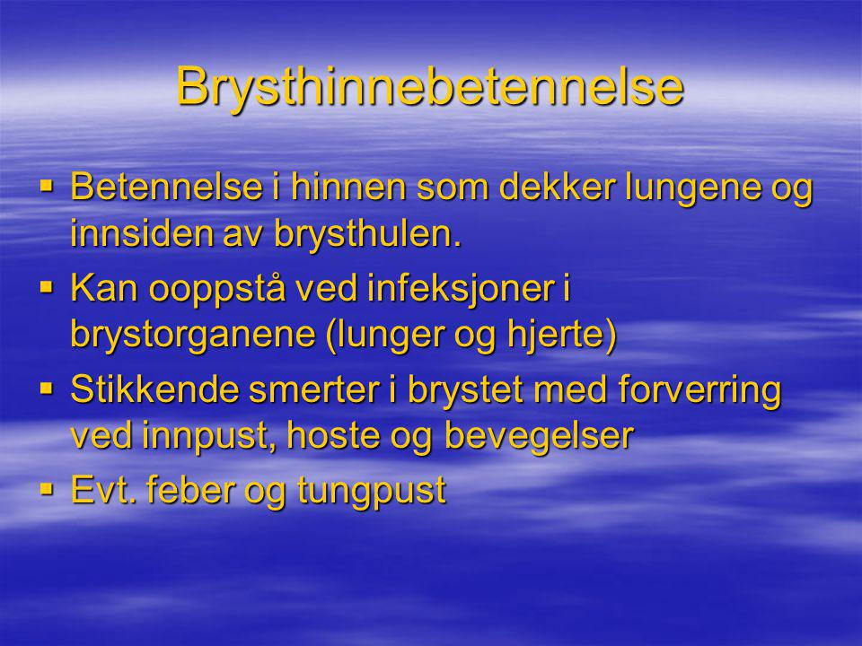 Brysthinnebetennelse