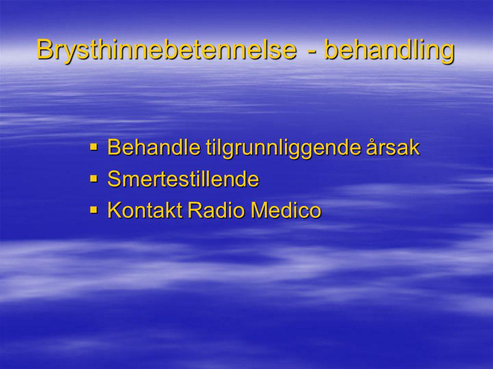 Brysthinnebetennelse - behandling