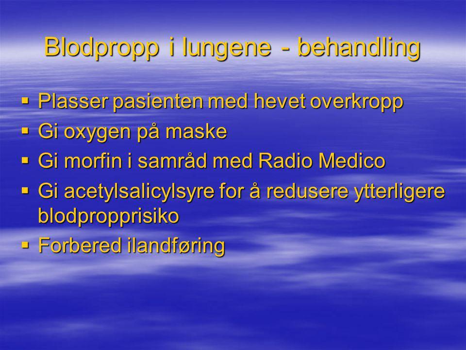 Blodpropp i lungene - behandling