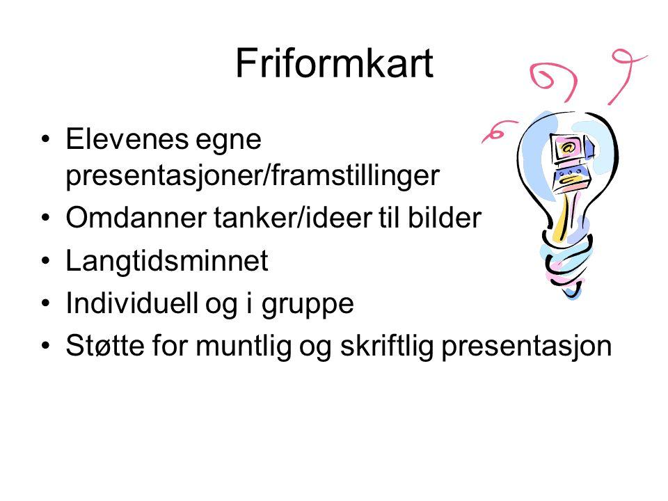 Friformkart Elevenes egne presentasjoner/framstillinger