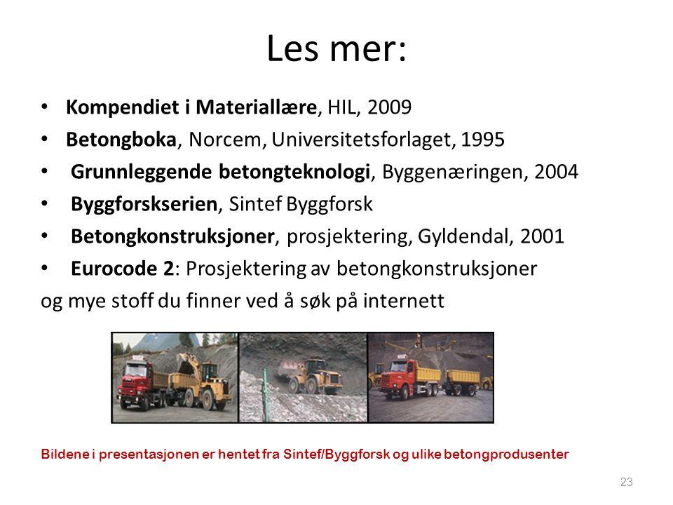 Les mer: Kompendiet i Materiallære, HIL, 2009