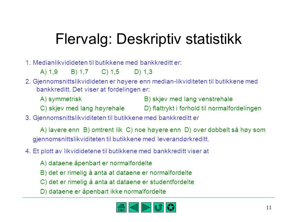 Flervalg: Deskriptiv statistikk