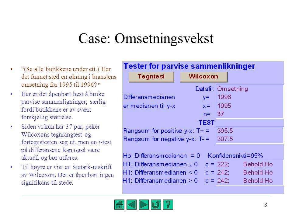 Case: Omsetningsvekst