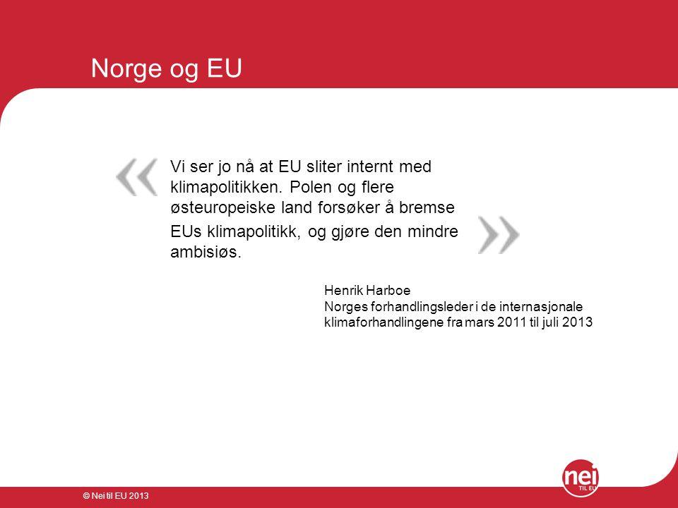 Norge og EU Vi ser jo nå at EU sliter internt med klimapolitikken. Polen og flere østeuropeiske land forsøker å bremse.
