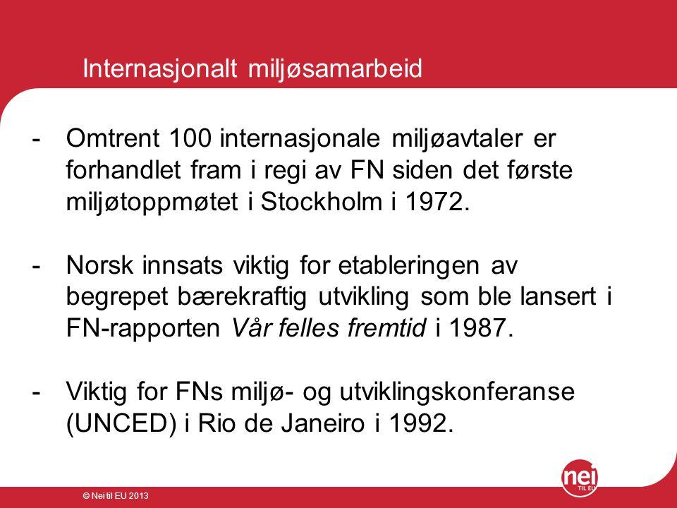 Internasjonalt miljøsamarbeid