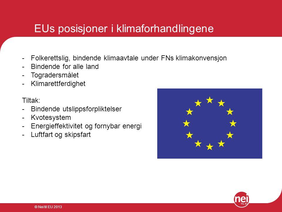 EUs posisjoner i klimaforhandlingene