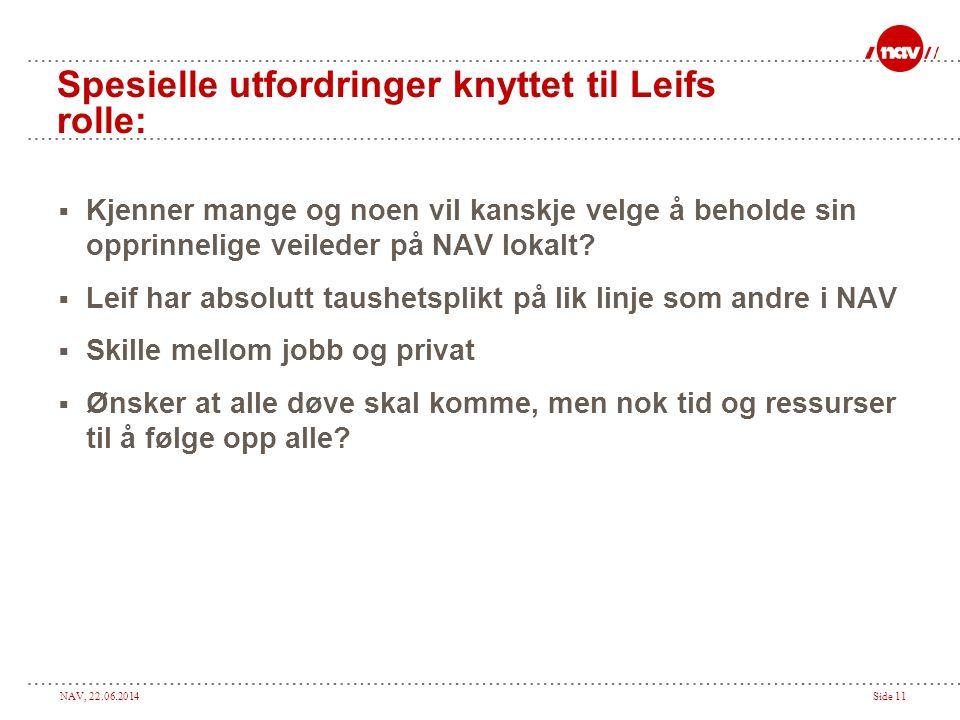Spesielle utfordringer knyttet til Leifs rolle: