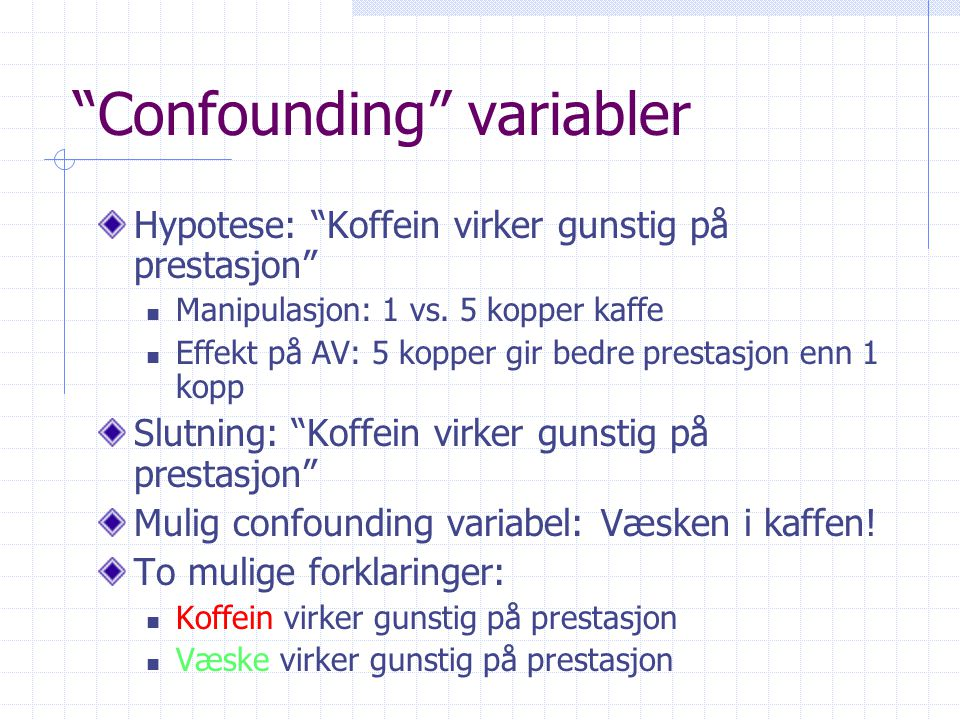 Confounding variabler