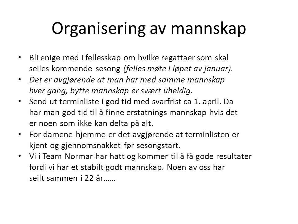 Organisering av mannskap