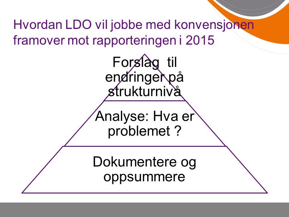 Forslag til endringer på strukturnivå
