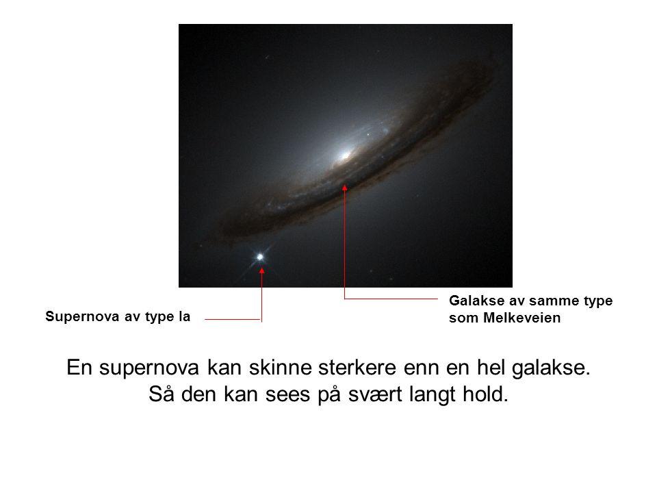 En supernova kan skinne sterkere enn en hel galakse.