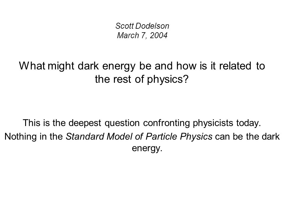 This is the deepest question confronting physicists today.