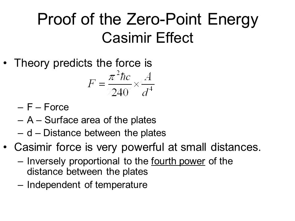 Proof of the Zero-Point Energy Casimir Effect