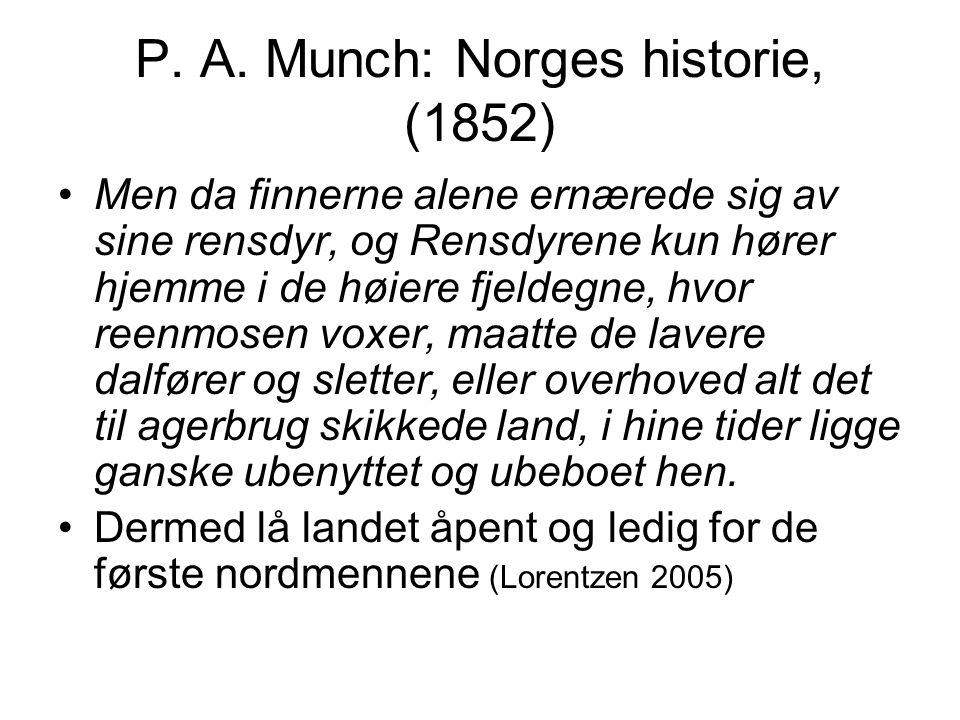 P. A. Munch: Norges historie, (1852)