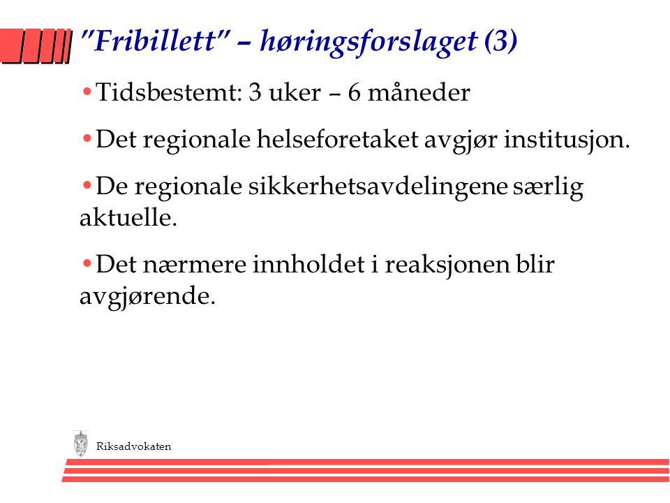 Fribillett – høringsforslaget (3)