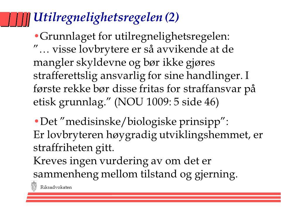 Utilregnelighetsregelen (2)