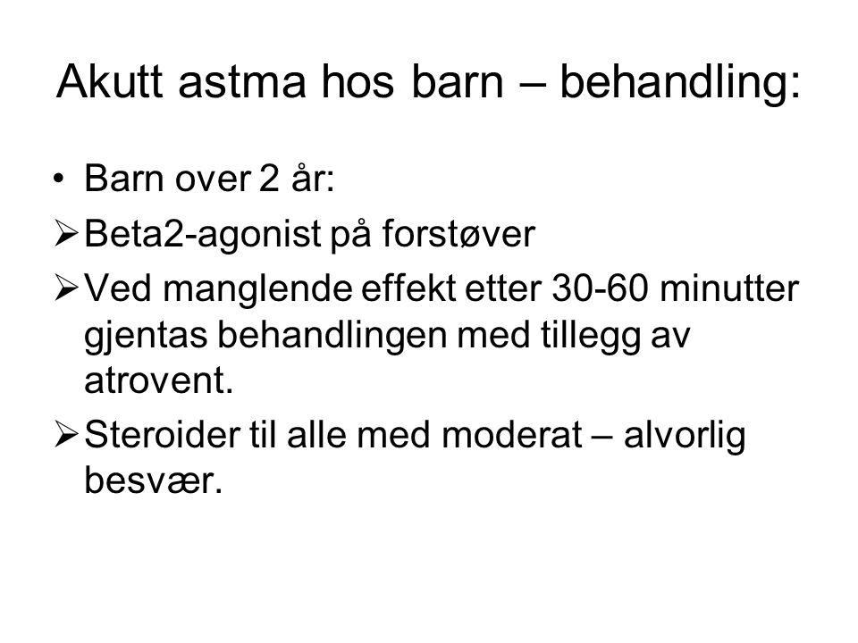 Akutt astma hos barn – behandling: