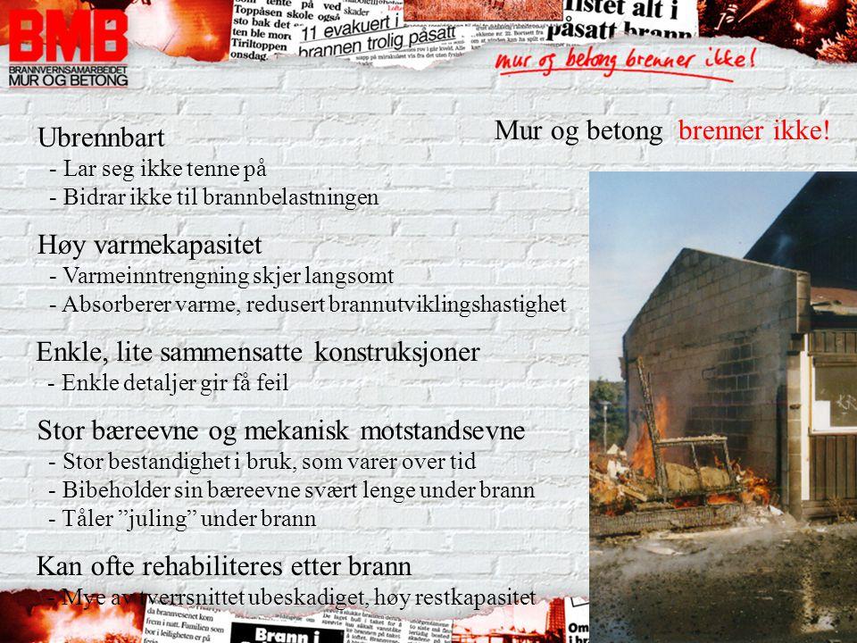 Mur og betong brenner ikke!