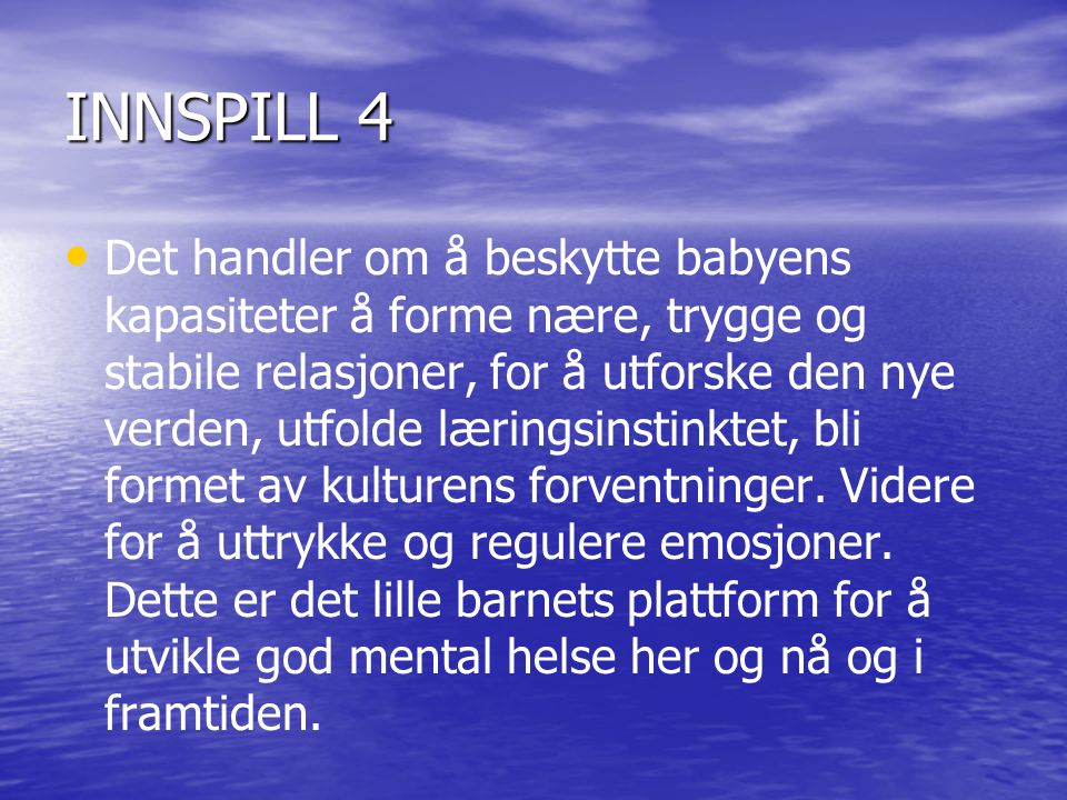 INNSPILL 4