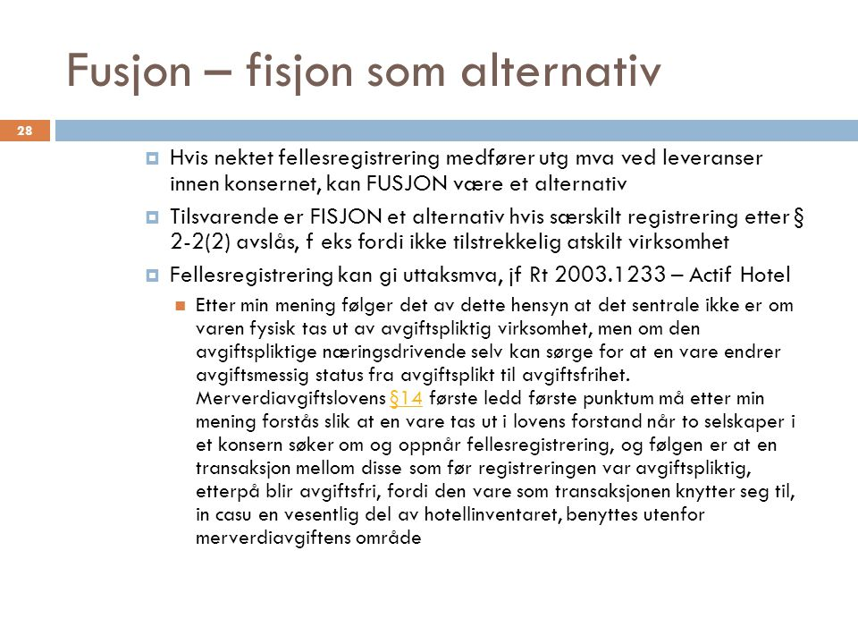 Fusjon – fisjon som alternativ
