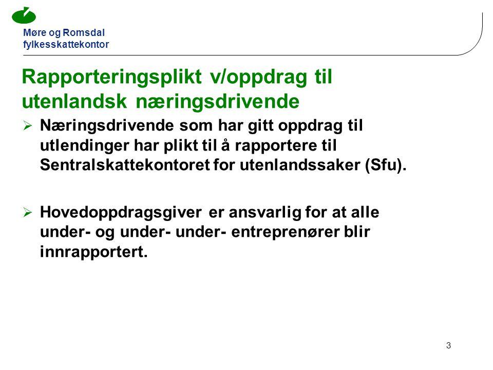 Rapporteringsplikt v/oppdrag til utenlandsk næringsdrivende