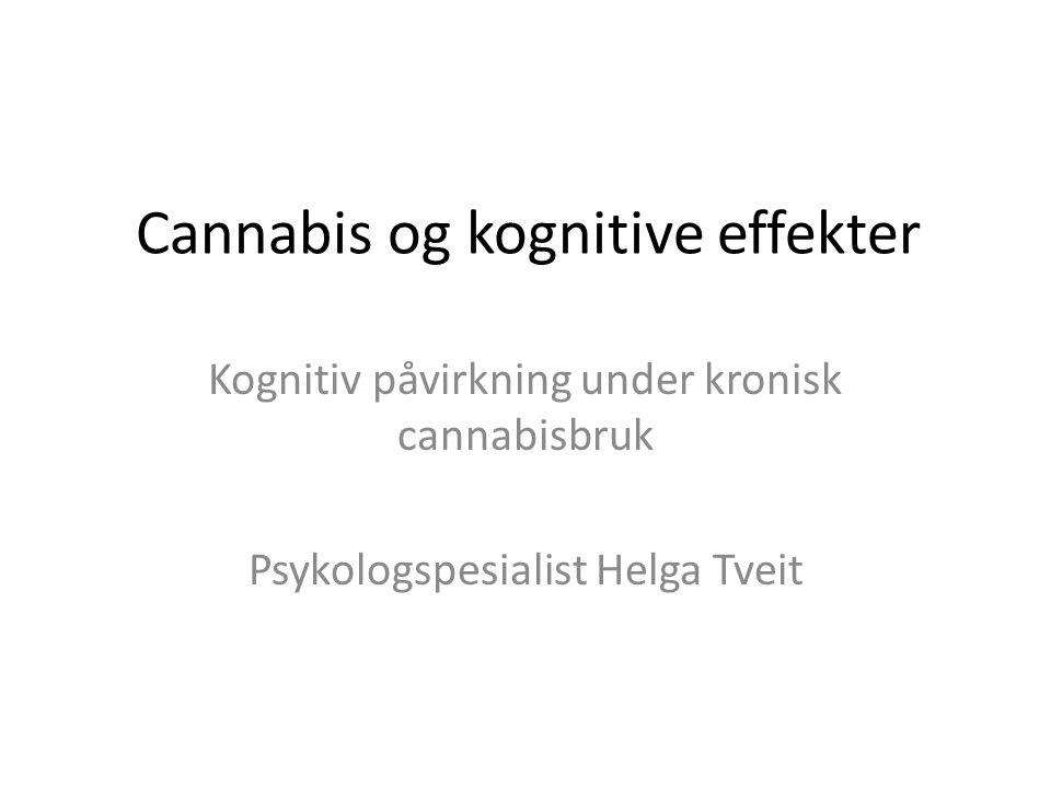 Cannabis og kognitive effekter