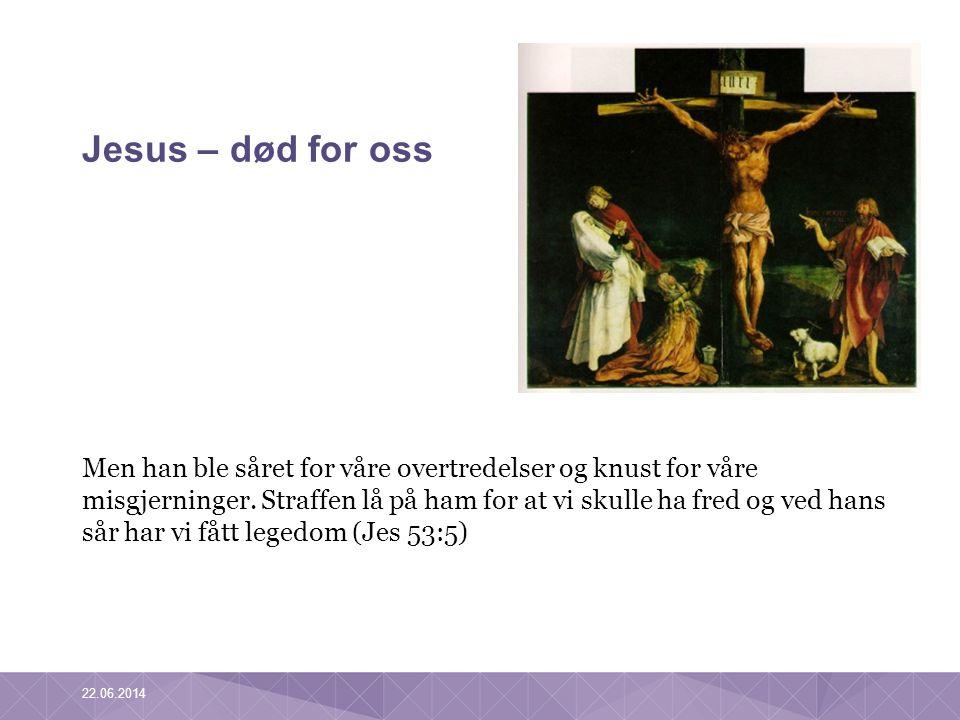 Jesus – død for oss