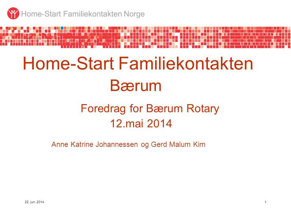 Home-Start Familiekontakten. Bærum. Foredrag for Bærum Rotary. 12
