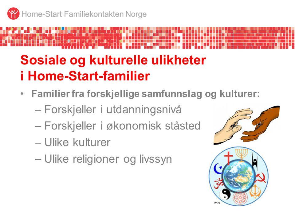 Sosiale og kulturelle ulikheter i Home-Start-familier