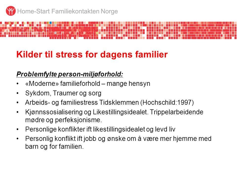 Kilder til stress for dagens familier