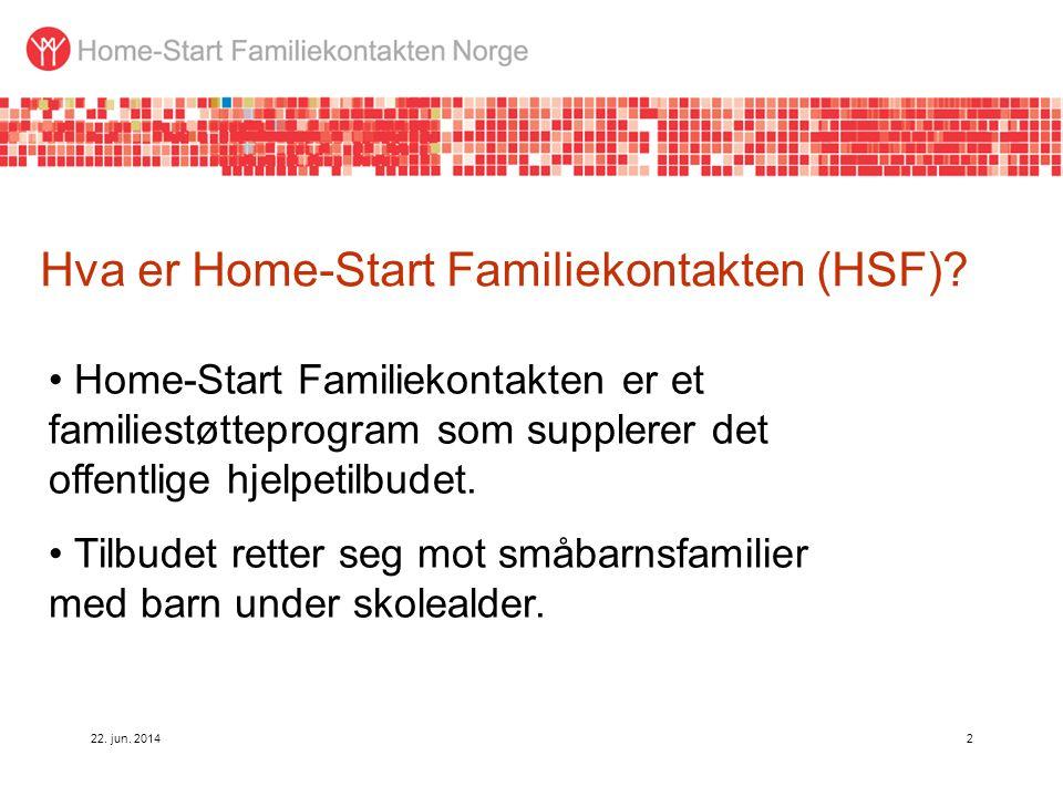 Hva er Home-Start Familiekontakten (HSF)