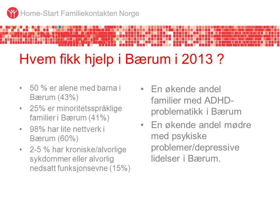 Hvem fikk hjelp i Bærum i 2013