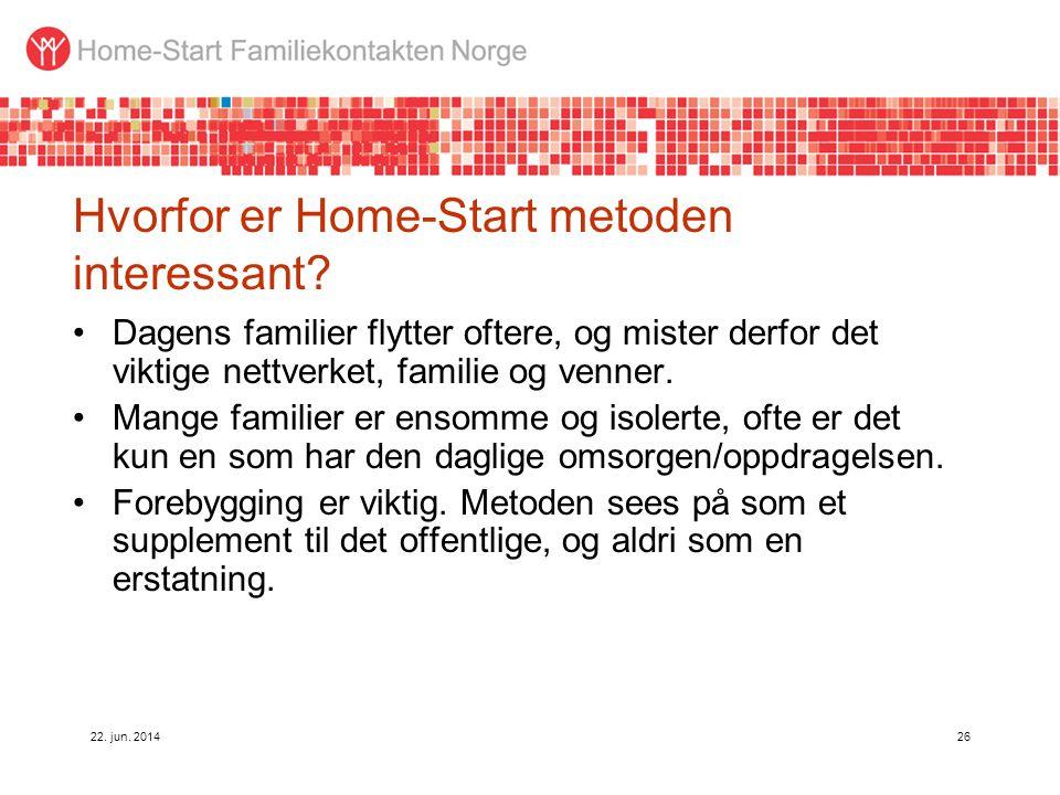 Hvorfor er Home-Start metoden interessant
