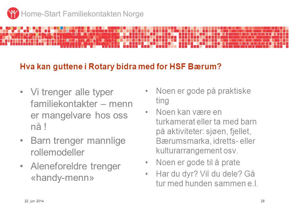 Hva kan guttene i Rotary bidra med for HSF Bærum