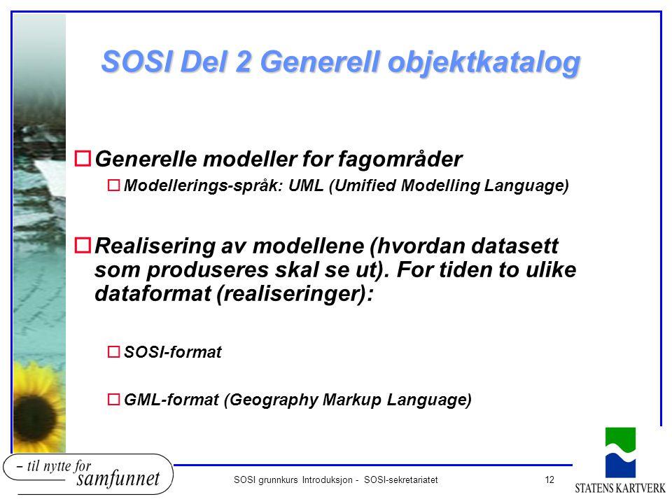 SOSI Del 2 Generell objektkatalog