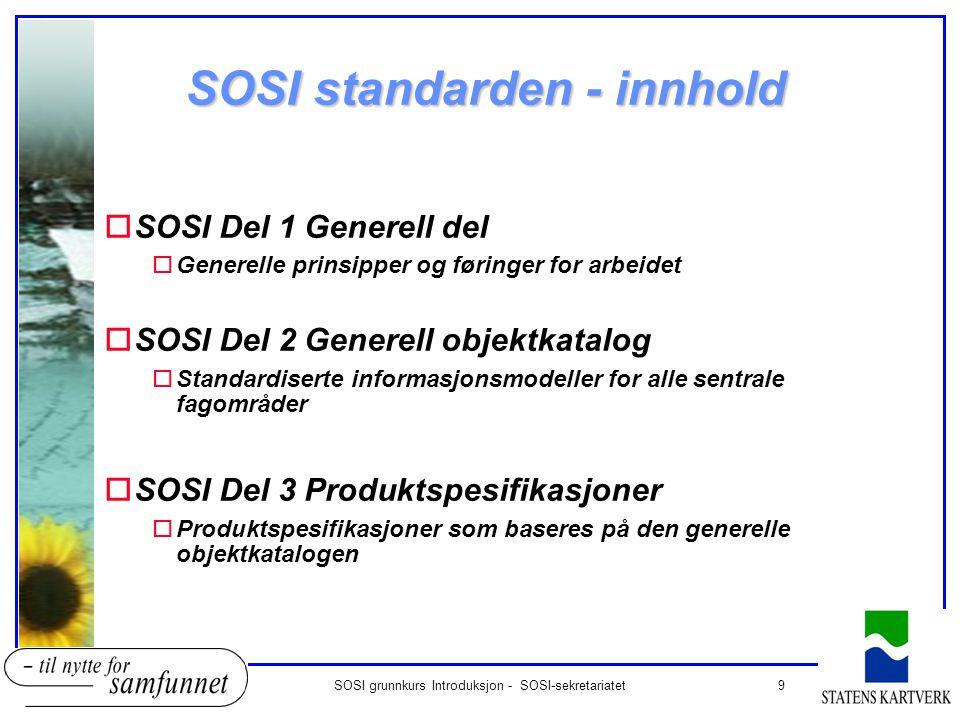SOSI standarden - innhold