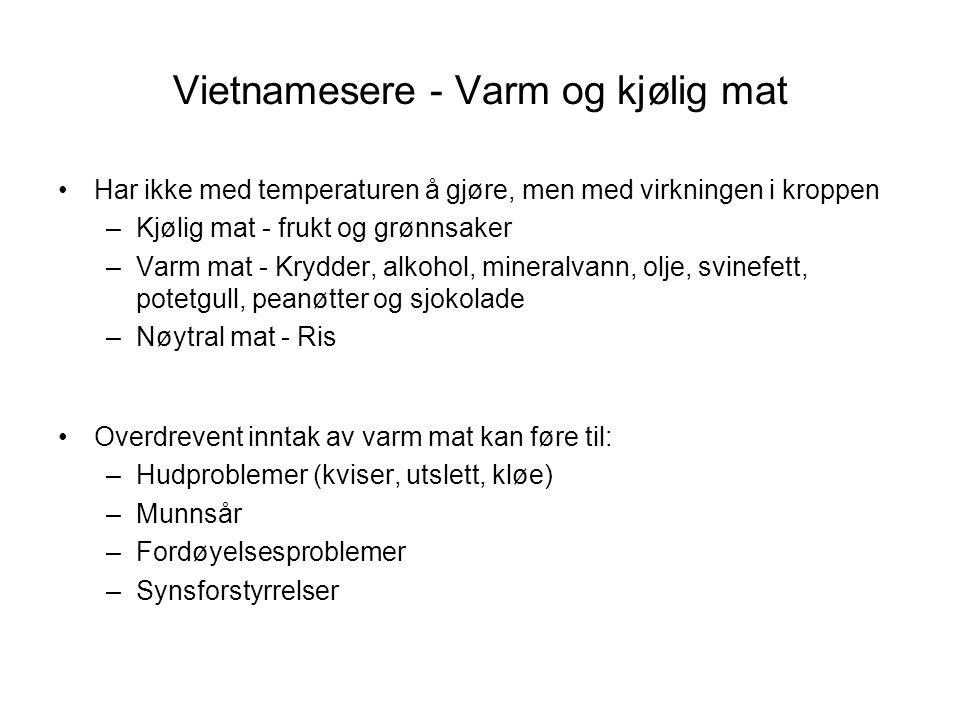 Vietnamesere - Varm og kjølig mat