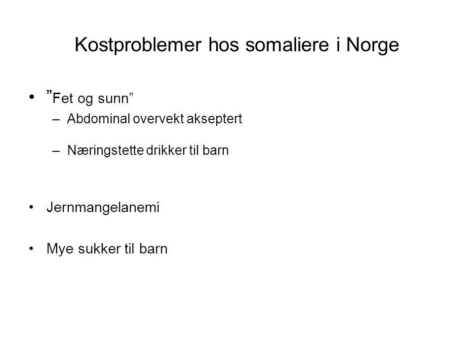 Kostproblemer hos somaliere i Norge
