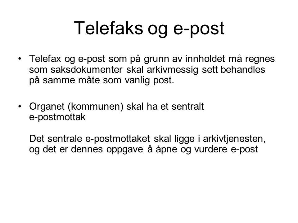 Telefaks og e-post